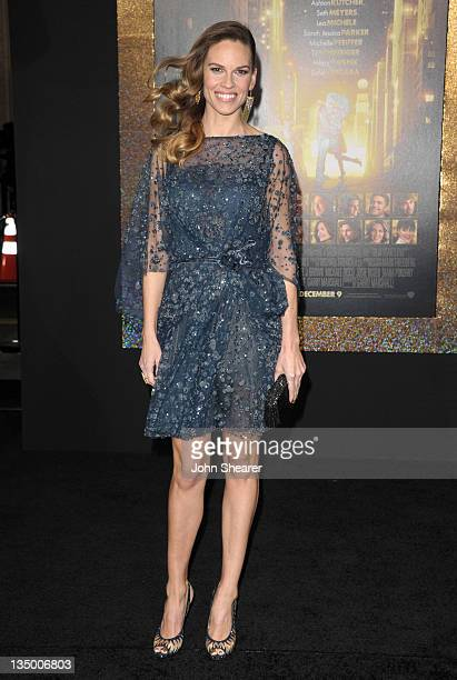 Actress Hilary Swank arrives to the Premiere Of Warner Bros Pictures' New Year's Eve at Grauman's Chinese Theatre on December 5 2011 in Hollywood...