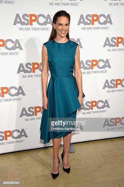 Actress Hilary Swank attends ASPCA'S 18th Annual Bergh Ball honoring Edie Falco and Hilary Swank at The Plaza Hotel on April 9 2015 in New York City
