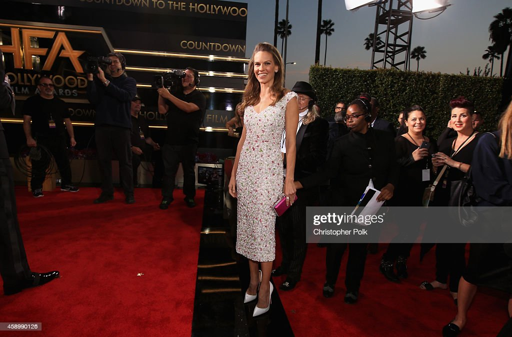 Actress Hilary Swank attends the 18th Annual Hollywood Film Awards at The Palladium on November 14, 2014 in Hollywood, California.