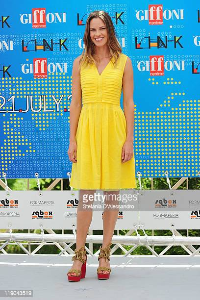 Actress Hilary Swank attends the 2011 Giffoni Experience Photocall on July 14 2011 in Giffoni Valle Piana Italy
