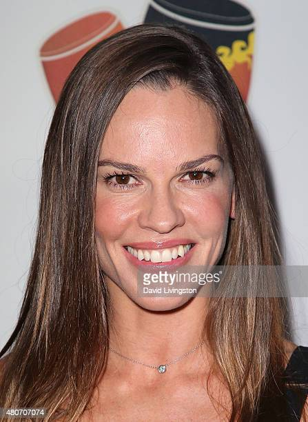 Actress Hilary Swank attends the 2015 Sports Humanitarian of the Year Awards at the Conga Room at LA Live on July 14 2015 in Los Angeles California