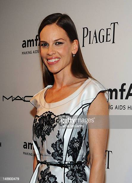 Actress Hilary Swank attends the 3rd annual amfAR Inspiration Gala New York at The New York Public Library Stephen A Schwarzman Building on June 7...