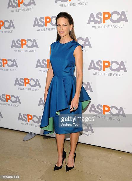 Actress Hilary Swank attends the ASPCA'S 18th Annual Bergh Ball honoring Edie Falco and Hilary Swank at The Plaza Hotel on April 9 2015 in New York...