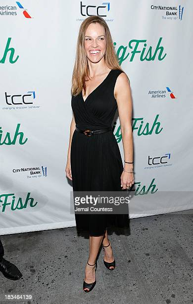 Actress Hilary Swank attends the Broadway opening night of Big Fish at Neil Simon Theatre on October 6 2013 in New York City
