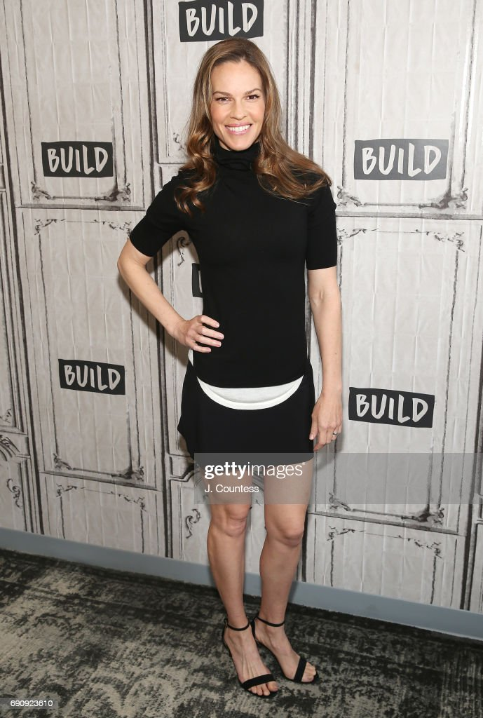 Actress Hilary Swank attends the Build Presents Hilary Swank Discussing Her New Fashion Brand, Mission Statement at Build Studio on May 31, 2017 in New York City.