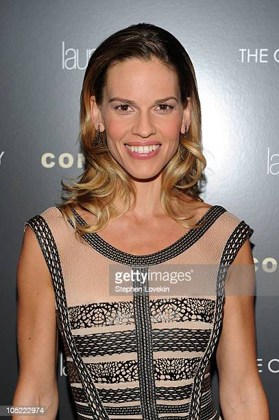 Actress Hilary Swank attends the Cinema Society Laura Mercier screening of Conviction at Tribeca Grand Hotel on October 12 2010 in New York City