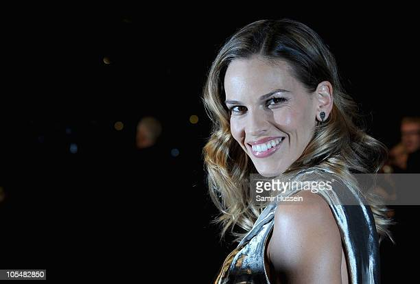 Actress Hilary Swank attends the Gala Premiere of Conviction during the 54th BFI London Film Festival at the Vue West End on October 15 2010 in...