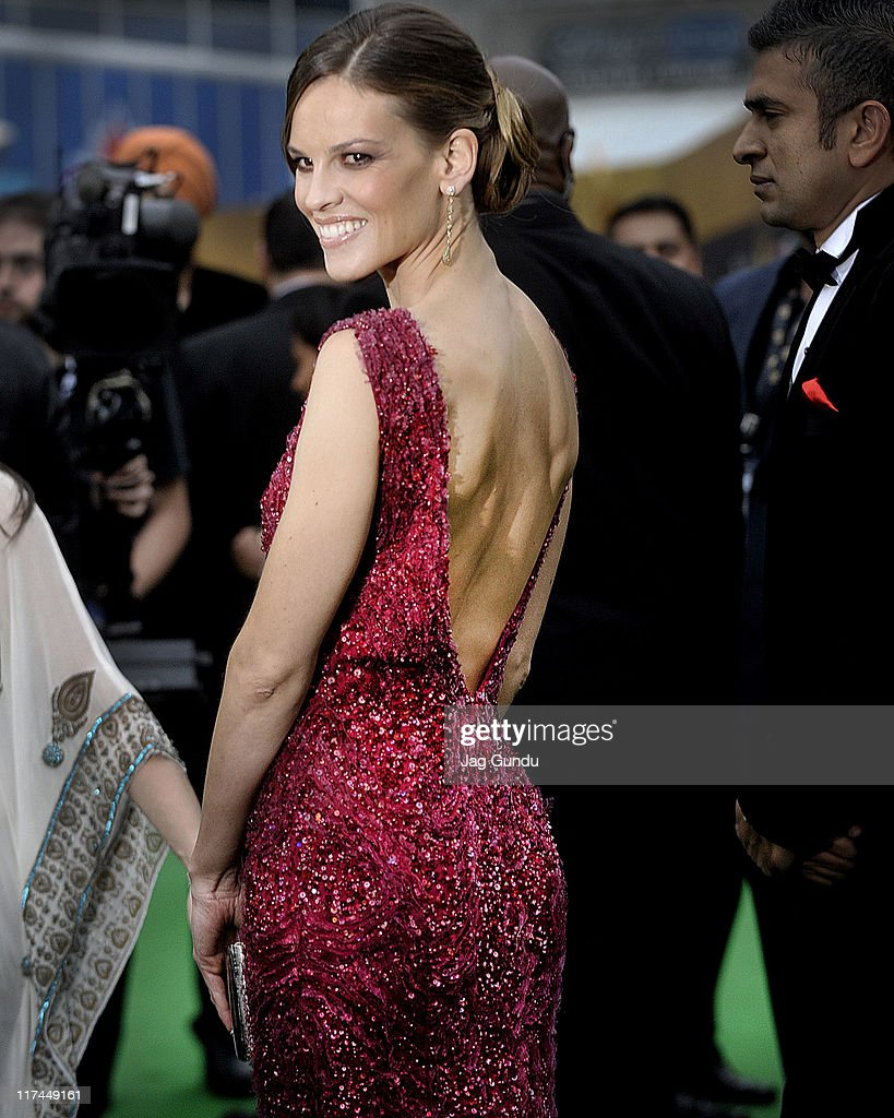 Actress Hilary Swank attends the IIFA Awards green Carpet held at the Rogers Centre on June 25, 2011 in Toronto, Canada.