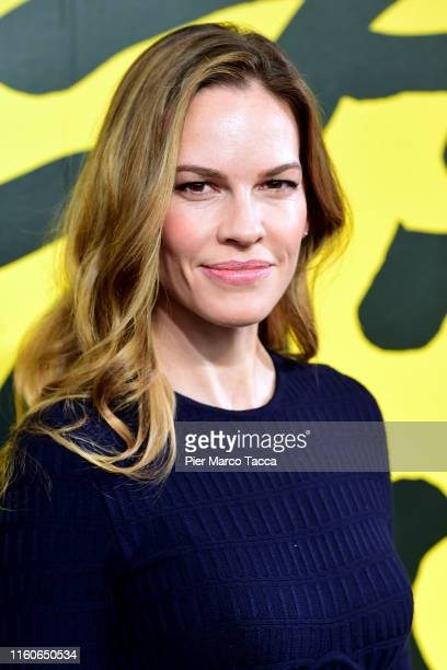 Actress Hilary Swank attends the Leopard Club Award Conversation during the 72nd Locarno Film Festival on August 10 2019 in Locarno Switzerland