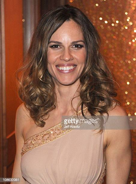 Actress Hilary Swank attends the official HBO SAG Awards after party held at at Spago on January 29 2011 in Beverly Hills California
