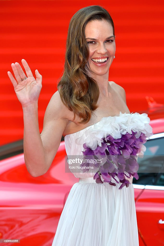Actress Hilary Swank attends the opening ceremony of the Tokyo International Film Festival 2015 at Roppongi Hills on October 22, 2015 in Tokyo, Japan.