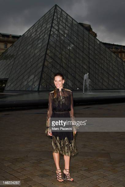 Actress Hilary Swank attends the Salvatore Ferragamo Cruise Collection 2013 Show at Galerie Denon on June 12 2012 in Paris France