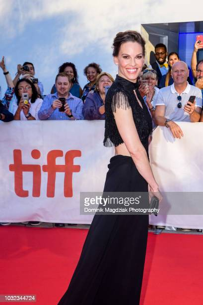 Actress Hilary Swank attends the What They Had red carpet premiere during the 2018 Toronto International Film Festival at Roy Thomson Hall on...