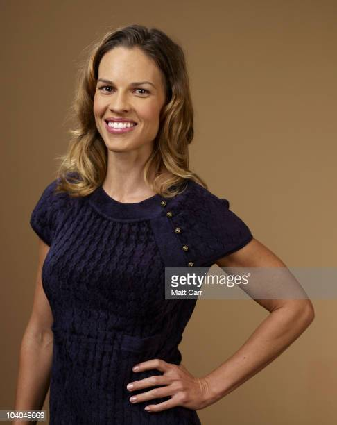 Actress Hilary Swank from 'Conviction' poses for a portrait during the 2010 Toronto International Film Festival in Guess Portrait Studio at Hyatt...