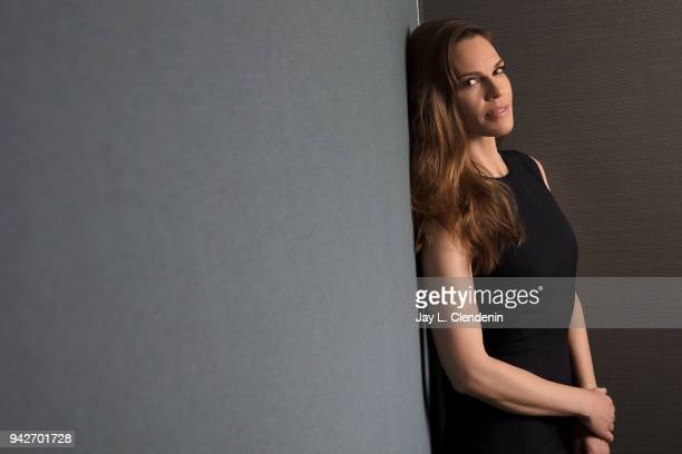 Actress Hilary Swank is photographed for Los Angeles Times on March 23 2018 in Los Angeles California PUBLISHED IMAGE CREDIT MUST READ Jay L...