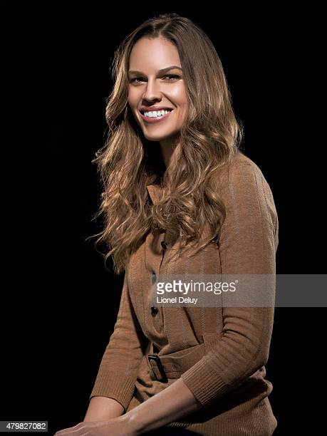 Actress Hilary Swank is photographed for Self Assignment on December 1 2011 in Los Angeles California