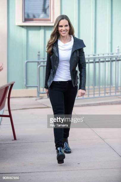 Actress Hilary Swank is seen on January 21 2018 in Park City Utah
