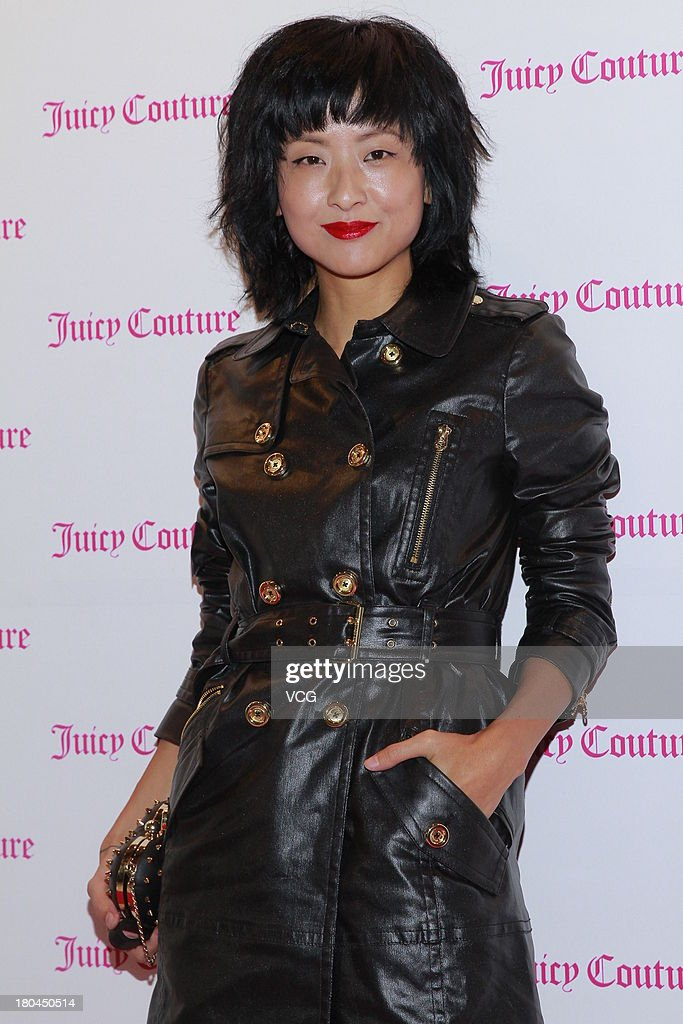 Actress Hilary Tsui attends Juicy Couture promotional event on September 12, 2013 in Hong Kong, Hong Kong.