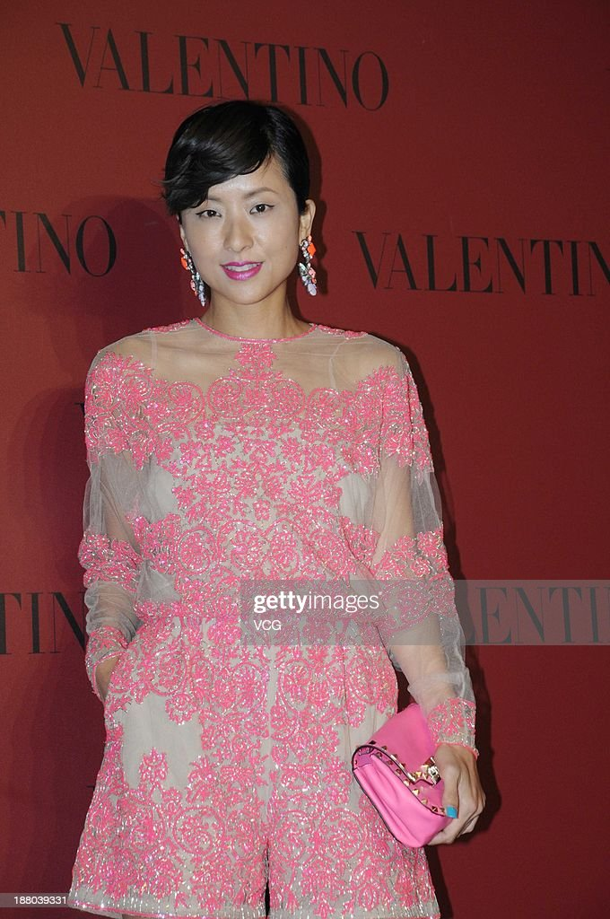Actress Hilary Tsui attends Valentino Fashion Show at Shanghai Port International Cruise Terminal on November 14, 2013 in Shanghai, China.