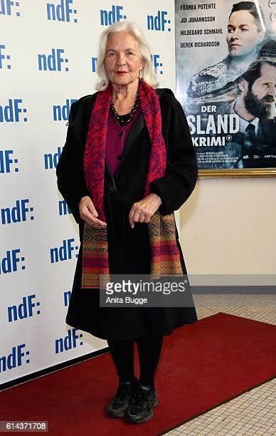 Actress Hildegard Schmahl attends the 'Der IslandKrimi Der Tote im Westfjord' premiere at Astor Film Lounge on October 13 2016 in Berlin Germany