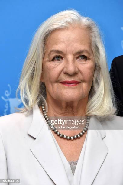 Actress Hildegard Schmahl attends the 'In Times of Fading Light' photo call during the 67th Berlinale International Film Festival Berlin at Grand...