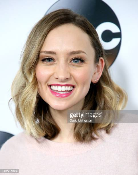 Actress Hillary Anne Matthews attends Disney ABC Television Group's TCA Winter Press Tour 2018 at The Langham Huntington Pasadena on January 8 2018...