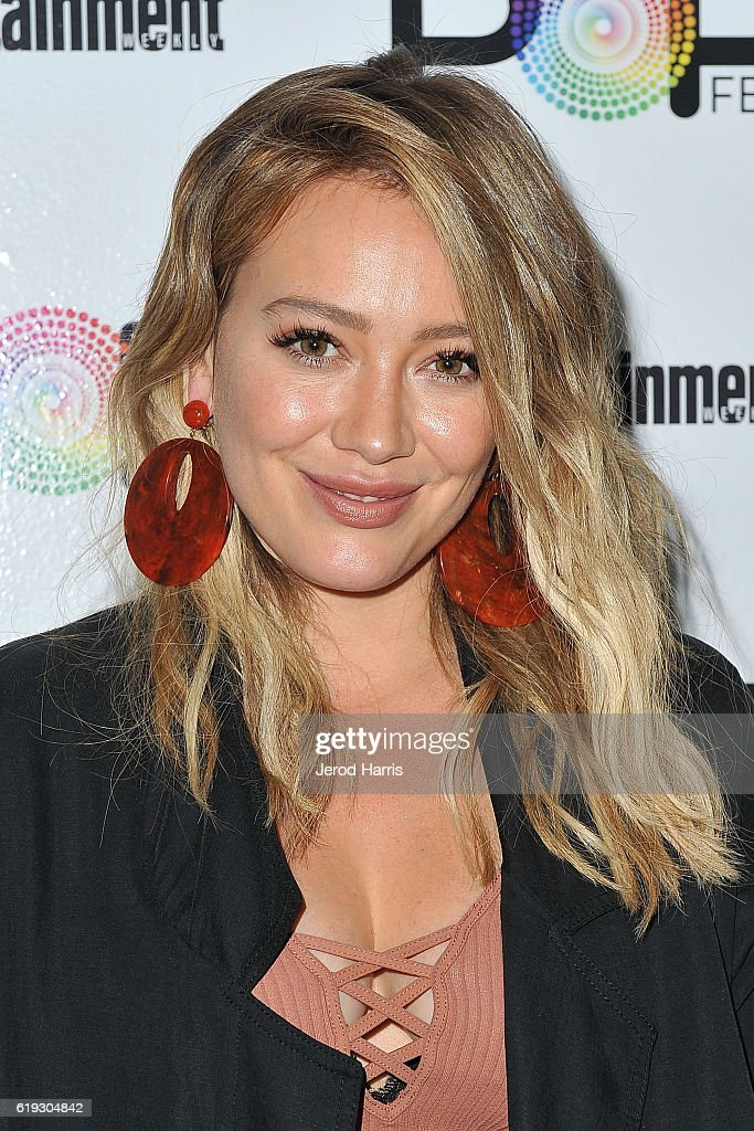 Actress Hillary Duff attends Entertainment Weekly's Popfest at The Reef on October 30, 2016 in Los Angeles, California.