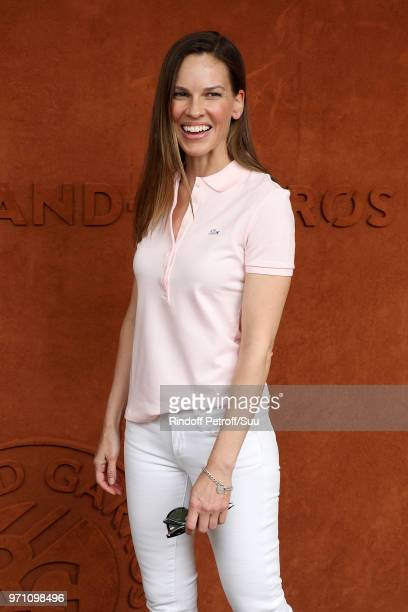 Actress Hillary Swank attends the 2018 French Open Day Fifteen at Roland Garros on June 10 2018 in Paris France