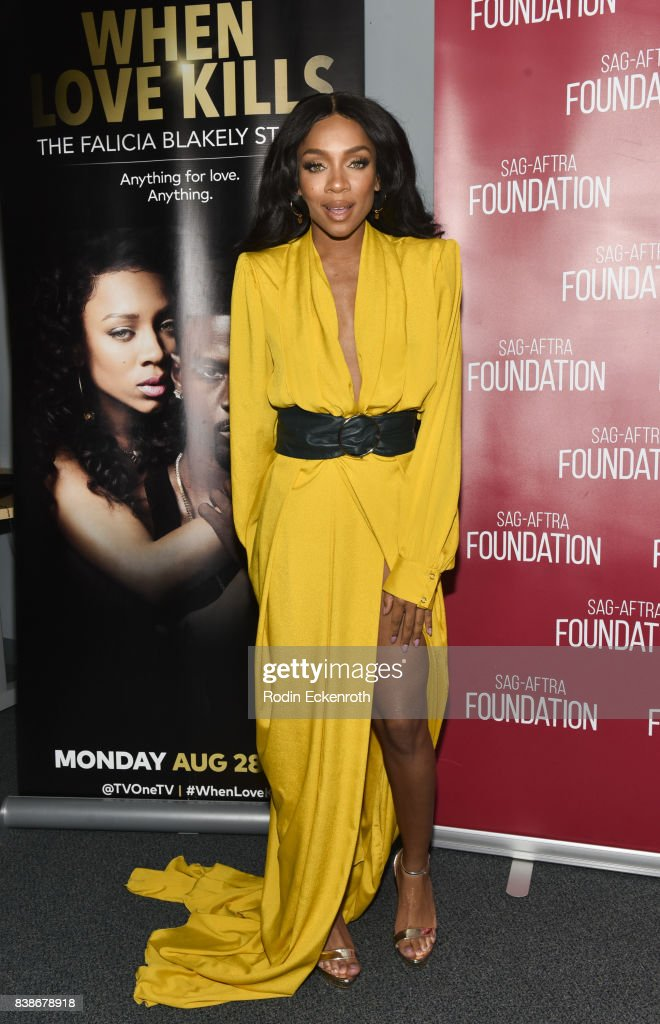 Actress & hip hop artist Niatia 'Lil' Mama' Kirkland poses for portrait at SAG-AFTRA Foundation Conversations with 'When Love Kills' at SAG-AFTRA Foundation Screening Room on August 24, 2017 in Los Angeles, California.
