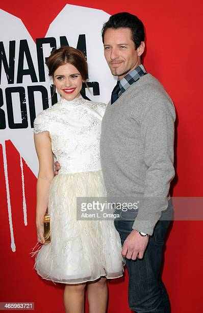 """Actress Holland Roden and actor Ian Bohen arrive for the Premiere Of Summit Entertainment's """"Warm Bodies"""" held at ArcLight Cinerama Dome on January..."""
