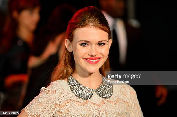 Actress Holland Roden arrives at NYLON Magazine August Issue Launch Party hosted by Ashley Greene at Blok on July 31 2012 in Hollywood California