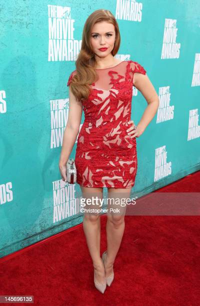 Actress Holland Roden arrives at the 2012 MTV Movie Awards held at Gibson Amphitheatre on June 3 2012 in Universal City California