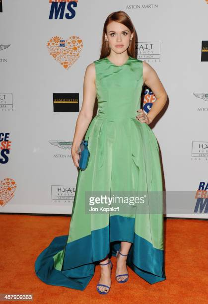 Actress Holland Roden arrives at the 21st Annual Race To Erase MS Gala at the Hyatt Regency Century Plaza on May 2, 2014 in Century City, California.