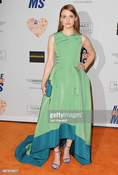 Actress Holland Roden arrives at the 21st Annual Race To Erase MS Gala at the Hyatt Regency Century Plaza on May 2 2014 in Century City California