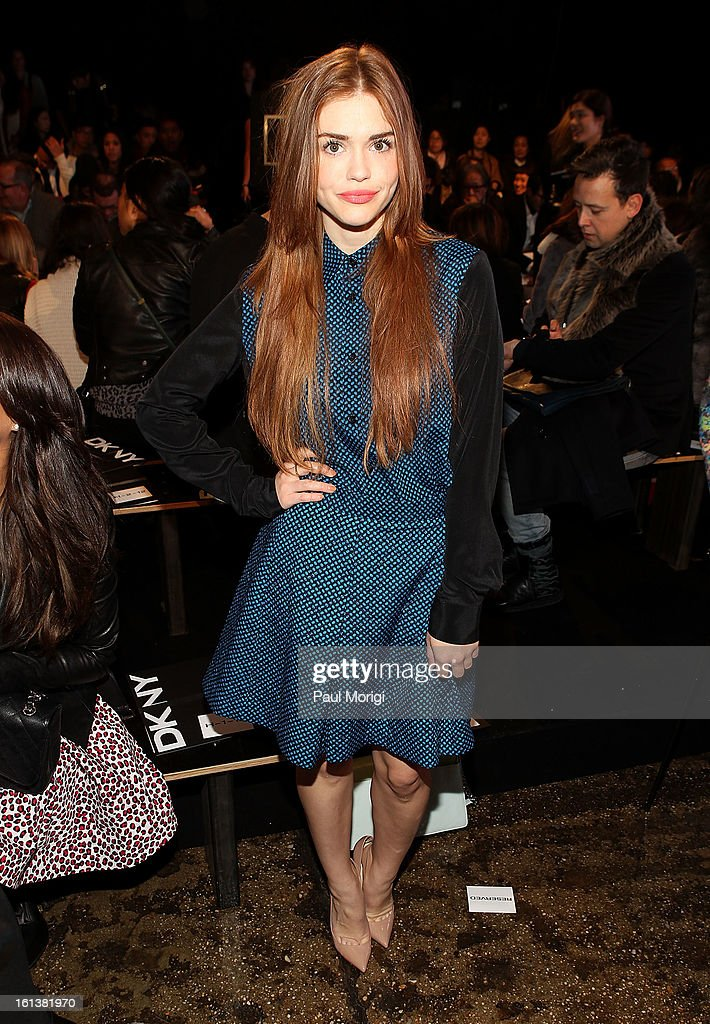 Actress Holland Roden attends DKNY Women's during Fall 2013 Mercedes-Benz Fashion Week on February 10, 2013 in New York City.