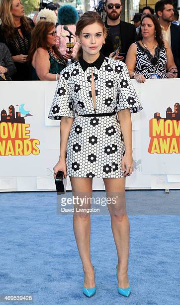 Actress Holland Roden attends the 2015 MTV Movie Awards at the Nokia Theatre LA Live on April 12 2015 in Los Angeles California