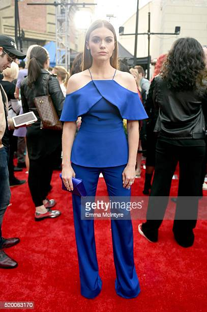 Actress Holland Roden attends the 2016 MTV Movie Awards at Warner Bros Studios on April 9 2016 in Burbank California MTV Movie Awards airs April 10...
