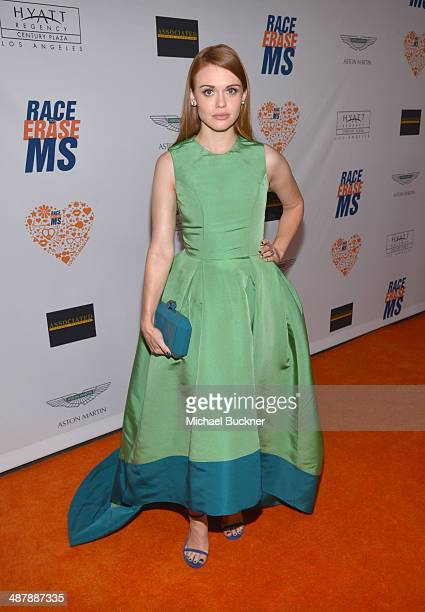 Actress Holland Roden attends the 21st annual Race to Erase MS at the Hyatt Regency Century Plaza on May 2 2014 in Century City California