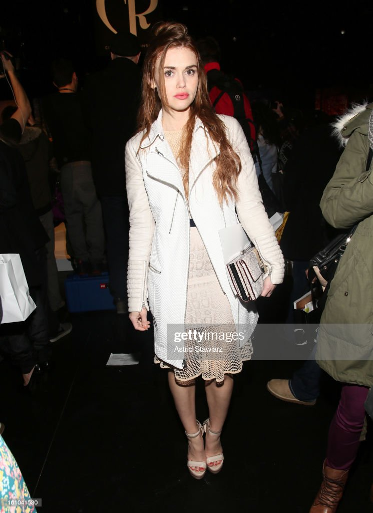 Actress Holland Roden attends the Charlotte Ronson Fall 2013 Presentation during Mercedes-Benz Fashion Week at The Box at Lincoln Center on February 8, 2013 in New York City.