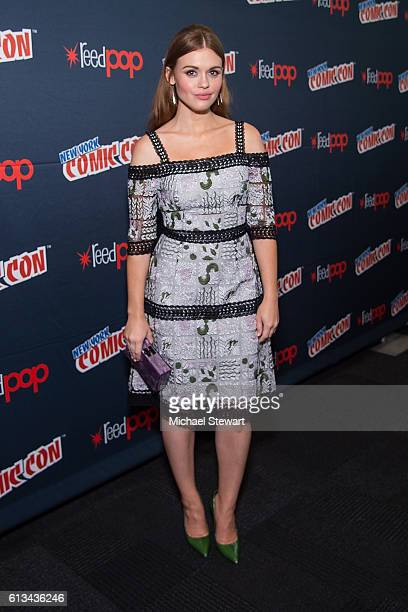 Actress Holland Roden attends the MTV Teen Wolf Final Farewell press room during 2016 New York Comic Con at the Jacob Javitz Center on October 8 2016...