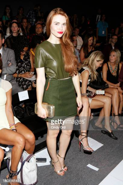 Actress Holland Roden attends the Rachel Zoe fashion show during MercedesBenz Fashion Week Spring 2014 at The Studio at Lincoln Center on September...
