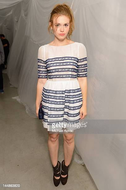 Actress Holland Roden attends Tyler Shields debut of MOUTHFUL presented by A/X Armani Exchange in support of LOVE IS LOUDER at a Private Studio on...
