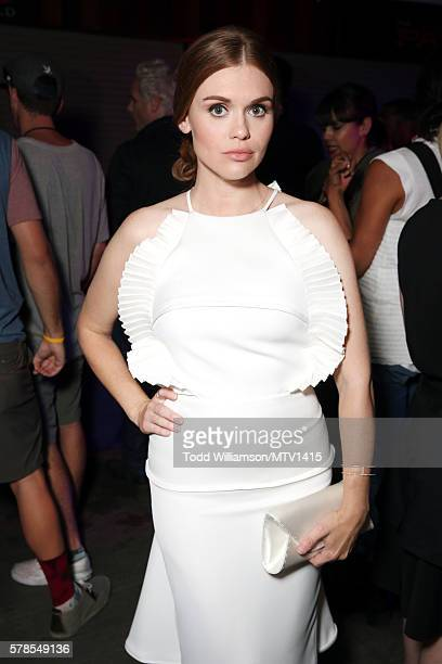 Actress Holland Roden poses backstage at the MTV Fandom Awards San Diego at PETCO Park on July 21, 2016 in San Diego, California.