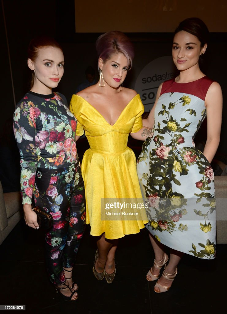 Actress Holland Roden, television personality Kelly Osbourne, and actress Crystal Reed attend CW Network's 2013 Young Hollywood Awards presented by Crest 3D White and SodaStream held at The Broad Stage on August 1, 2013 in Santa Monica, California.