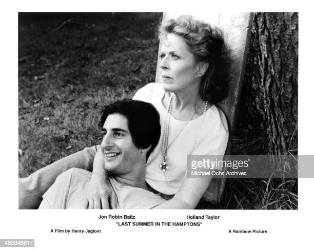 Actress Holland Taylor and actor Jon Robin Baitz in a scene from the movie 'Last Summer in the Hamptons' circa 1995