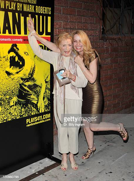 Actress Holland Taylor and designer Mary Quigley arrive at the opening night of Rantoul And Die at the Lillian Theater on May 16 2009 in Los Angeles...