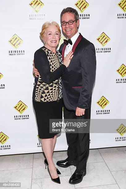 Actress Holland Taylor and gala honoree attorney Mark D Sendroff attend the 2015 Abingdon Theatre Company Gala held at Espace on October 26 2015 in...