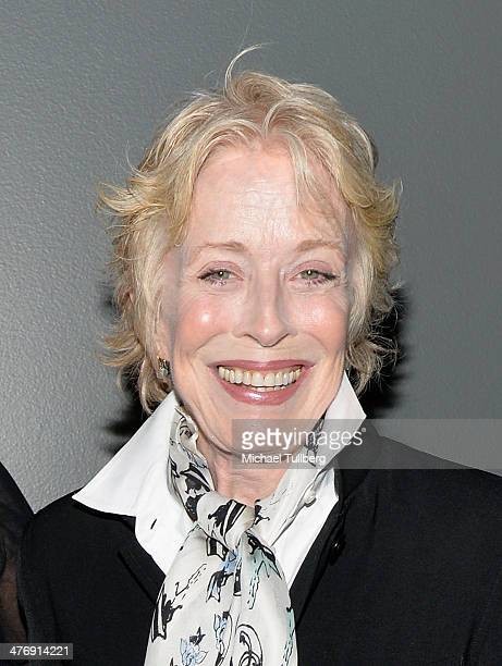Actress Holland Taylor attends a screening of the film Elaine Stritch Shoot Me on March 5 2014 in Los Angeles California