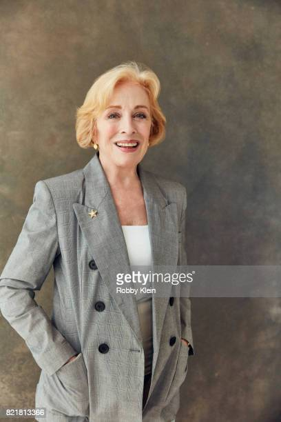 Actress Holland Taylor from ATT AUDIENCE's 'Mr Mercedes' poses for a portrait during ComicCon 2017 at Hard Rock Hotel San Diego on July 23 2017 in...