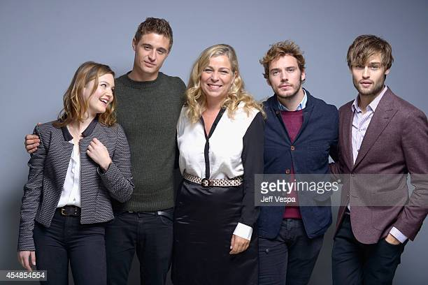 Actress Holliday Grainger actor Max Irons director Lone Scherfig actor Sam Claflin and actor Douglas Booth of The Riot Club pose for a portrait...